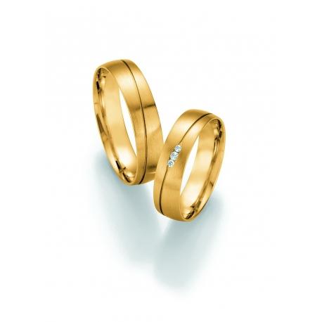 Luxusni Snubni Prsteny Zlute Zlato S Brilianty Raj Snubnich Prstenu