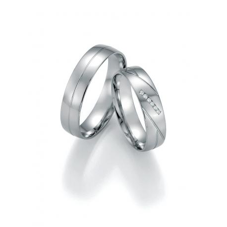 Luxusni Snubni Prsteny Bile Zlato S Brilianty Raj Snubnich Prstenu