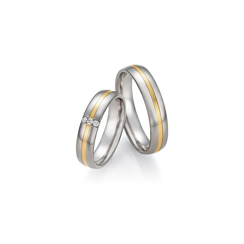 Snubni Prsteny V Kombinaci Titanu Se Zlatem Od 4 999 Za Kus Raj