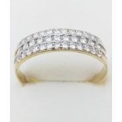 Dámský zlatý prsten velikost 63