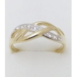 Dámský zlatý prsten velikost 62
