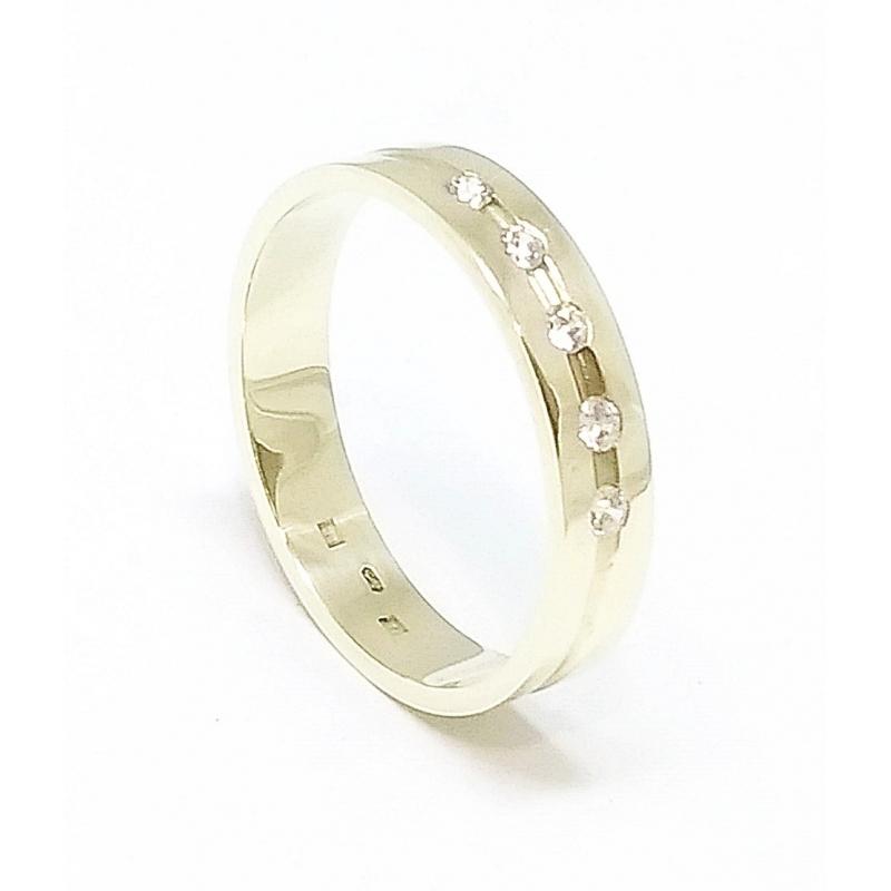 0da3a437701 Zlatý snubní prsten velikost 64 - Ráj snubních prstenů