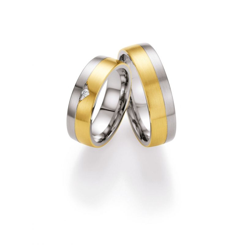 Snubni Prsteny Kombinace Zlato A Ocel S Brilianty Raj Snubnich Prstenu