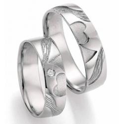 Designové snubní prsteny ze stříbra AG 925/000  kus od 2.799,-