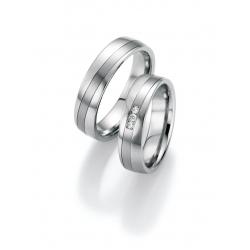 Ukázka z kolekce snubní prsteny ocel s brilianty