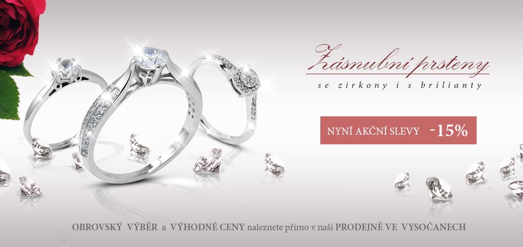 Zásnubní prsteny sleva -15%