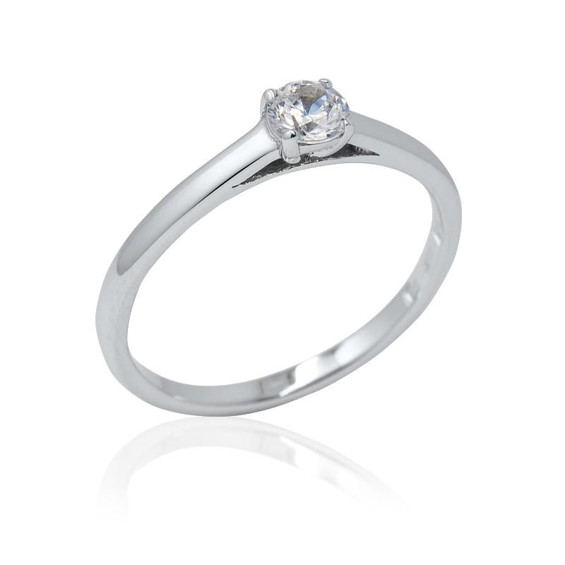 527632026 Zásnubní prsten s briliantem-Elegant soliter briliant - Ráj snubních ...