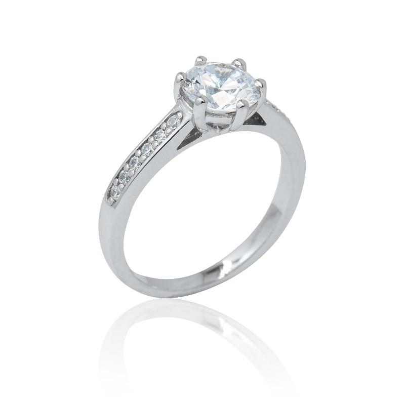 a4eedd31d Zásnubní prsten se zirkony Romantik luxury - Ráj snubních prstenů
