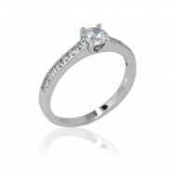 Zásnubní prsten se zirkony Romantik luxury