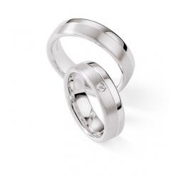 Moderní stříbrné snubní prsteny kus