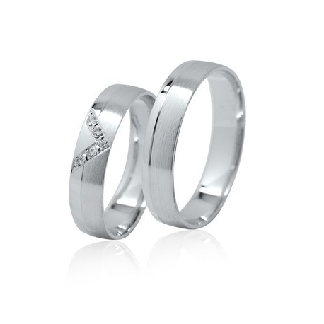 Snubní prsteny prsteny bílé zlato 114211I
