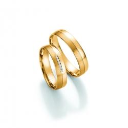 Luxusní snubní prsteny žluté zlato s brilianty