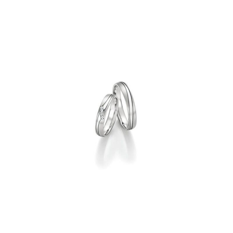 25426f3be Luxusní snubní prsteny bílé zlato s brilianty - Ráj snubních prstenů