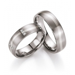Snubní prsteny v kombinaci titanu se zlatem, od 5.999,- za kus