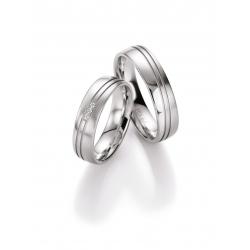 Elegantní snubní prsteny ze stříbra