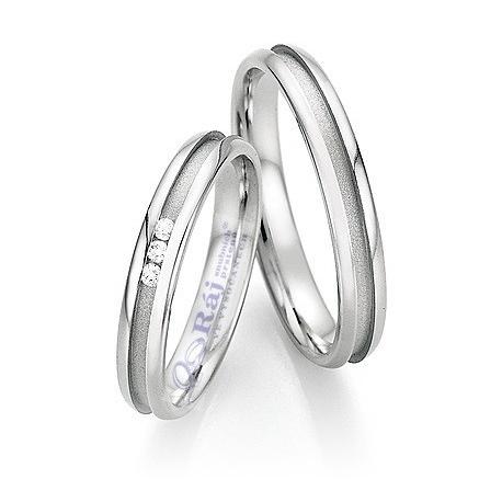 Zajímavé snubní prsteny z chirurgické oceli s matovanou vnitřní drážkou