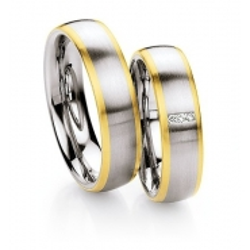 Snubní prsteny v kombinaci ocel se zlatem, od 4.899,- za kus