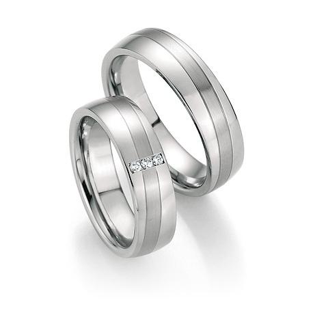Luxusní ergonomické snubní prsteny z chirurgické oceli s brilianty