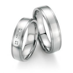 Elegantní snubní prsteny z chirurgické oceli
