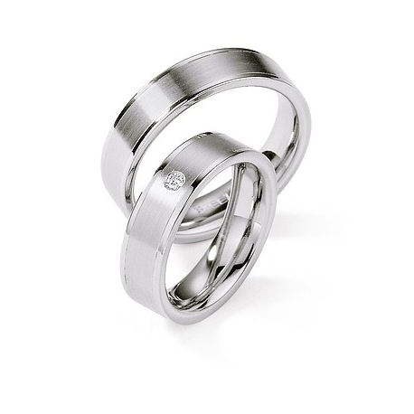 Snubní prsteny z chirurgické oceli s briliantem