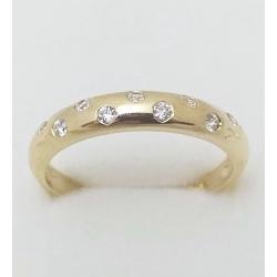 Dámský zlatý prsten velikost 61