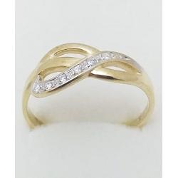 Dámský zlatý prsten velikost 65
