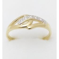 Dámský zlatý prsten velikost 64