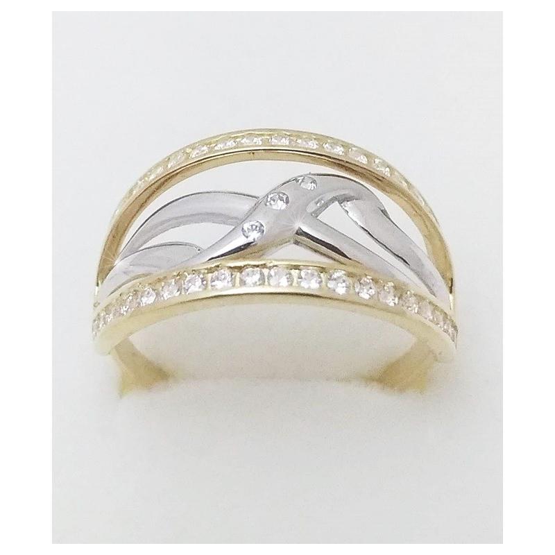 d326373f7 Dámský zlatý prsten velikost 62 - Ráj snubních prstenů