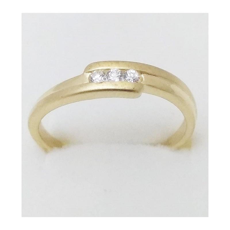 2f89d4843 Dámský zlatý prsten velikost 63 - Ráj snubních prstenů