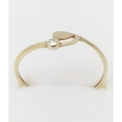 Dámský zlatý prsten velikost 60