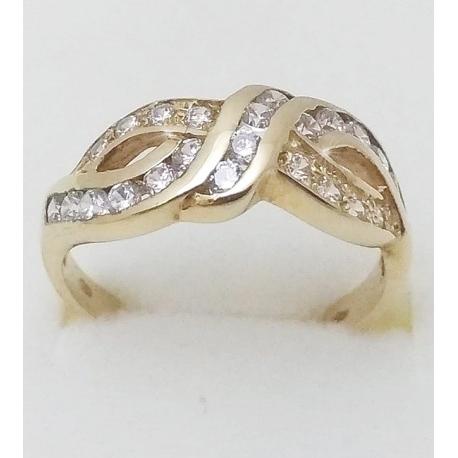 Dámský zlatý prsten velikost 54,5