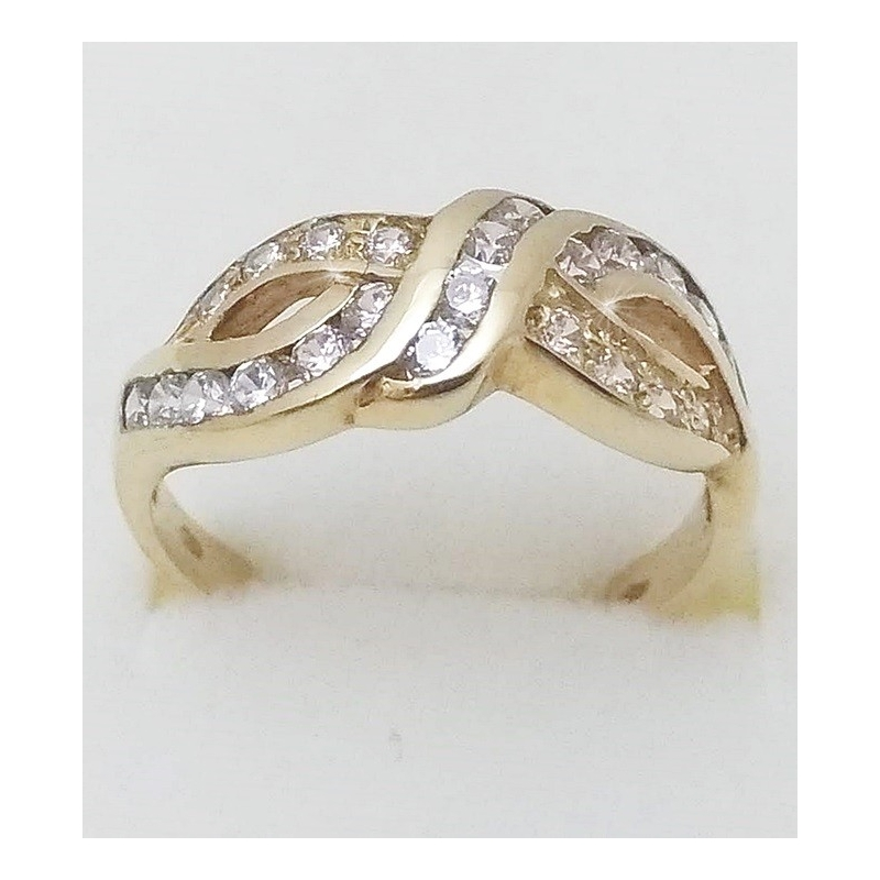 b21a7c15e Dámský zlatý prsten velikost 54,5 - Ráj snubních prstenů