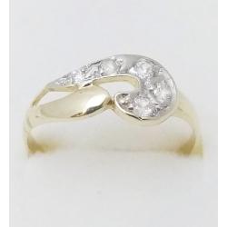 Dámský zlatý prsten velikost 57