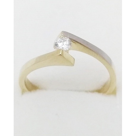 Dámský zlatý prsten velikost 55
