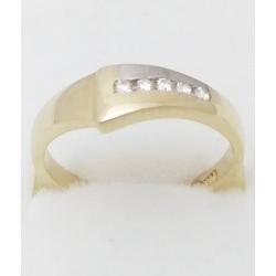 Dámský zlatý prsten velikost 53