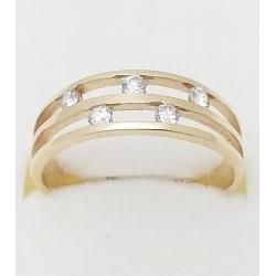 Dámský zlatý prsten velikost 52
