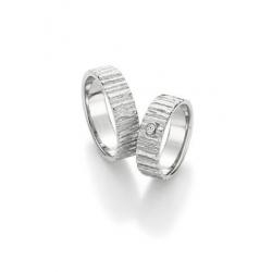 Luxusní designové snubní prsteny ze stříbra - Inspirováno přírodou