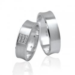 Pár luxusních zlatých snubních prstenů 52+62