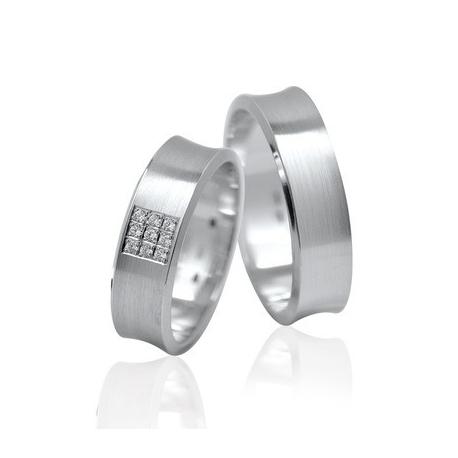 Pár zlatých snubních prstenů Ráj 1116L