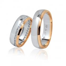 Pár luxusních zlatých snubních prstenů 53+62