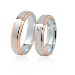 Pár luxusních zlatých snubních prstenů 52+61