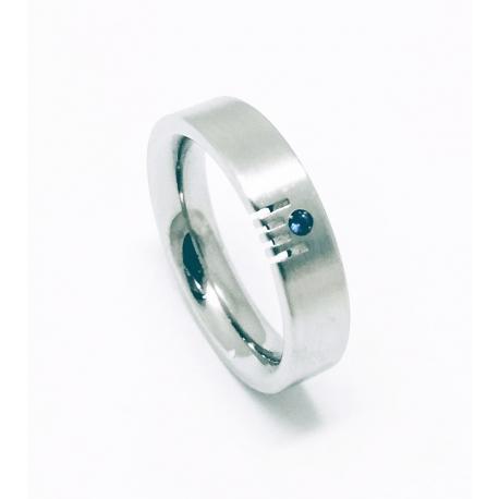 Prsten z chirurgické oceli velikost 55