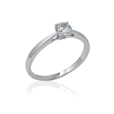 Zásnubní prsten se zirkonem Elegant soliter 11R08111