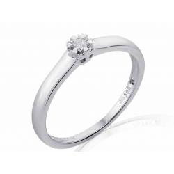 Zásnubní prsten s briliantem-Elegant soliter briliant