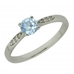 Zásnubní prsten brilianty s topazem