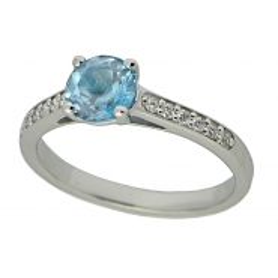Zásnubní prsteny s briliant s topazem