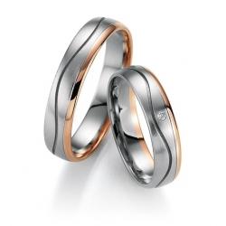 Zlaté snubní prsteny s brilianty