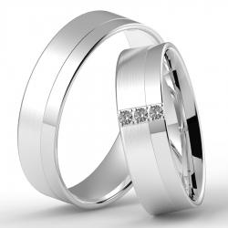 Stříbrné snubní prsteny LOVE GOLD