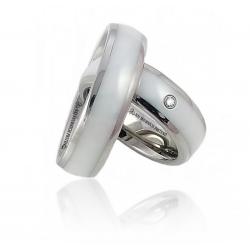 Originální snubní prsteny z chirurgické oceli s keramikou