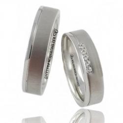 Stříbrné snubní prsteny